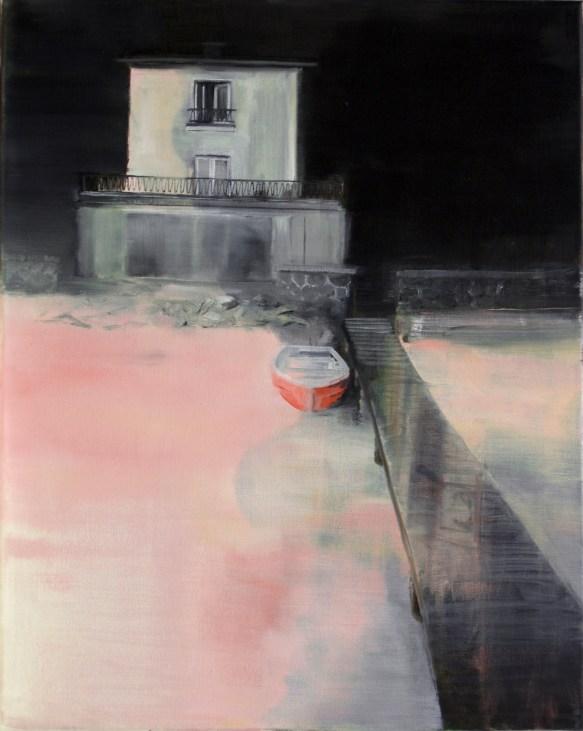 Haus am See II / Öl auf Leinwand / 50 x 40 cm / 2013