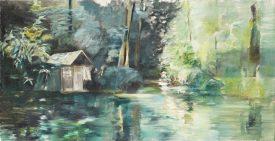 Liebeslaube / Öl auf Leinwand / 40 x 80 cm / 2019
