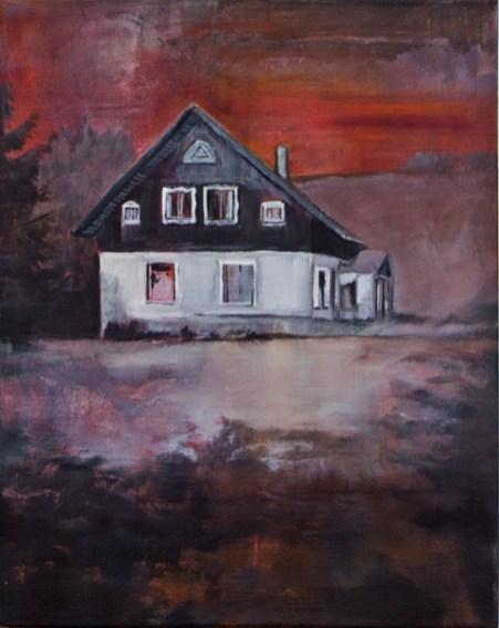 Haus beim Rübezahl / Öl auf Leinwand / 40 x 50 cm / 2013