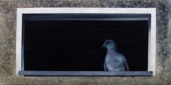 Neubezug / Öl auf Leinwand / 40 x 80 cm / 2012
