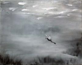 Tauchente-III / Öl auf Leinwand / 30 x 40 cm / 2001