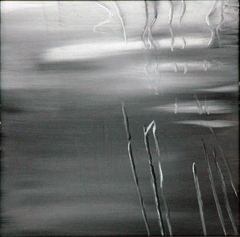 UW sw 1 / Öl auf Leinwand / 30 x 30 cm / 2001