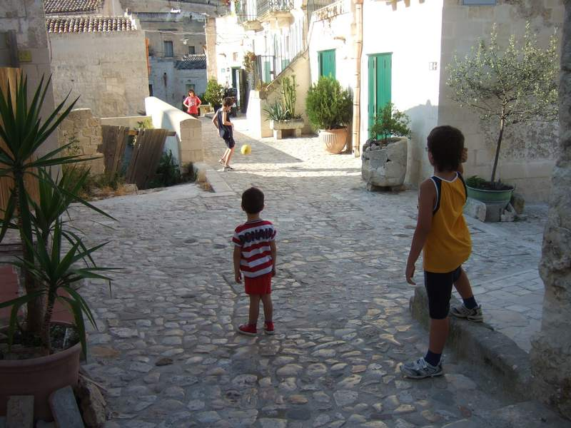 Street football in Matera - traffic isn't an issue