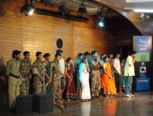 Crew of the Marathi play 'Meghdoot'.