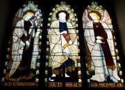 Oh when the Saints go marching on! Beautiful glass interiors at St. Thomas Cathedral.