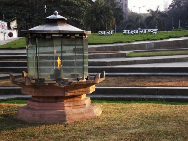 Jai Maharashtra! (Victory to the state of Maharashtra)- An eternal flame burns at 'Hutatma Chowk', in memory of the 105 martyrs who laid their lives to unify all the Marathi speaking regions of India.