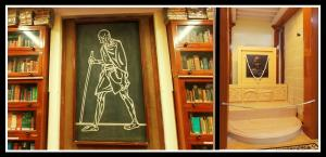 """Mani Bhavan Library- Gandhi'ji quotes """"Live as if you are going to die tomorrow and learn as if you are going to live forever""""! Photo edit: Aditya Chichkar."""