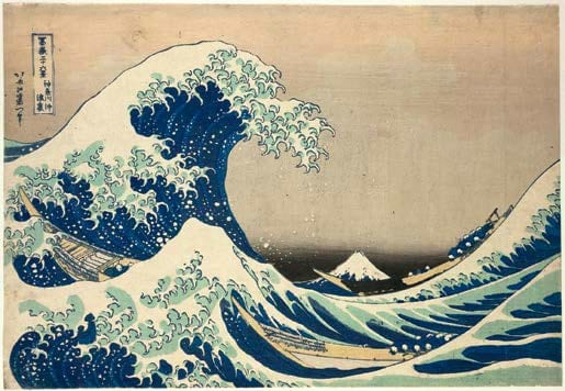 The trough of the wave by Hokusai-
