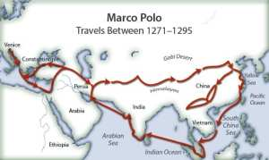Mumbai touched by Marco! Marco Polo's sea-route travel included the West coast of India.
