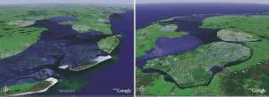 Holland's Zuiderzee from north and from south east