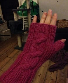 My Knitting - Pink Mittens