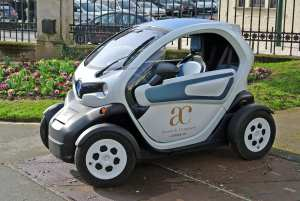 The Office du Tourisme, Epernay, allows visitors to rent an electric Twizy