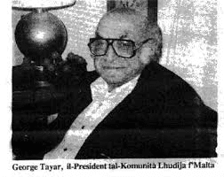 the late George Tayar -  leading businessman, philanthropist and arts patron