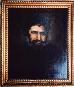 an oil painting of one of Malta's rabbis Josef Tajar. The Tajar family have long connections to Malta.