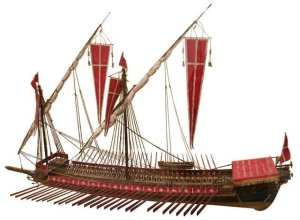 Model of a galley of the Knights of Malta
