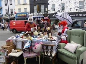 Mad Hatter's Tea Party in Camden High Street.