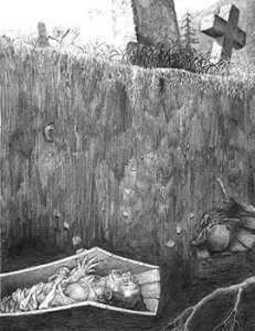 Fears of premature burial during the black plague.