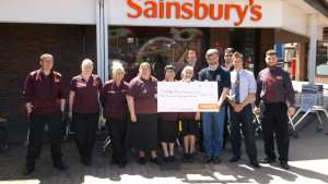 Sainsburys WRAS- cheque presentation 6th July 2015