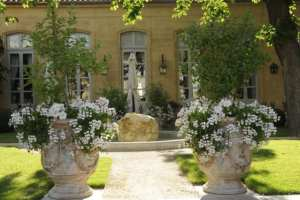 The garden of Hotel de Caumont Museum in Aix-en-Provence
