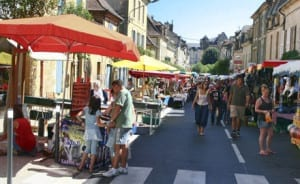 One of the numerous markets