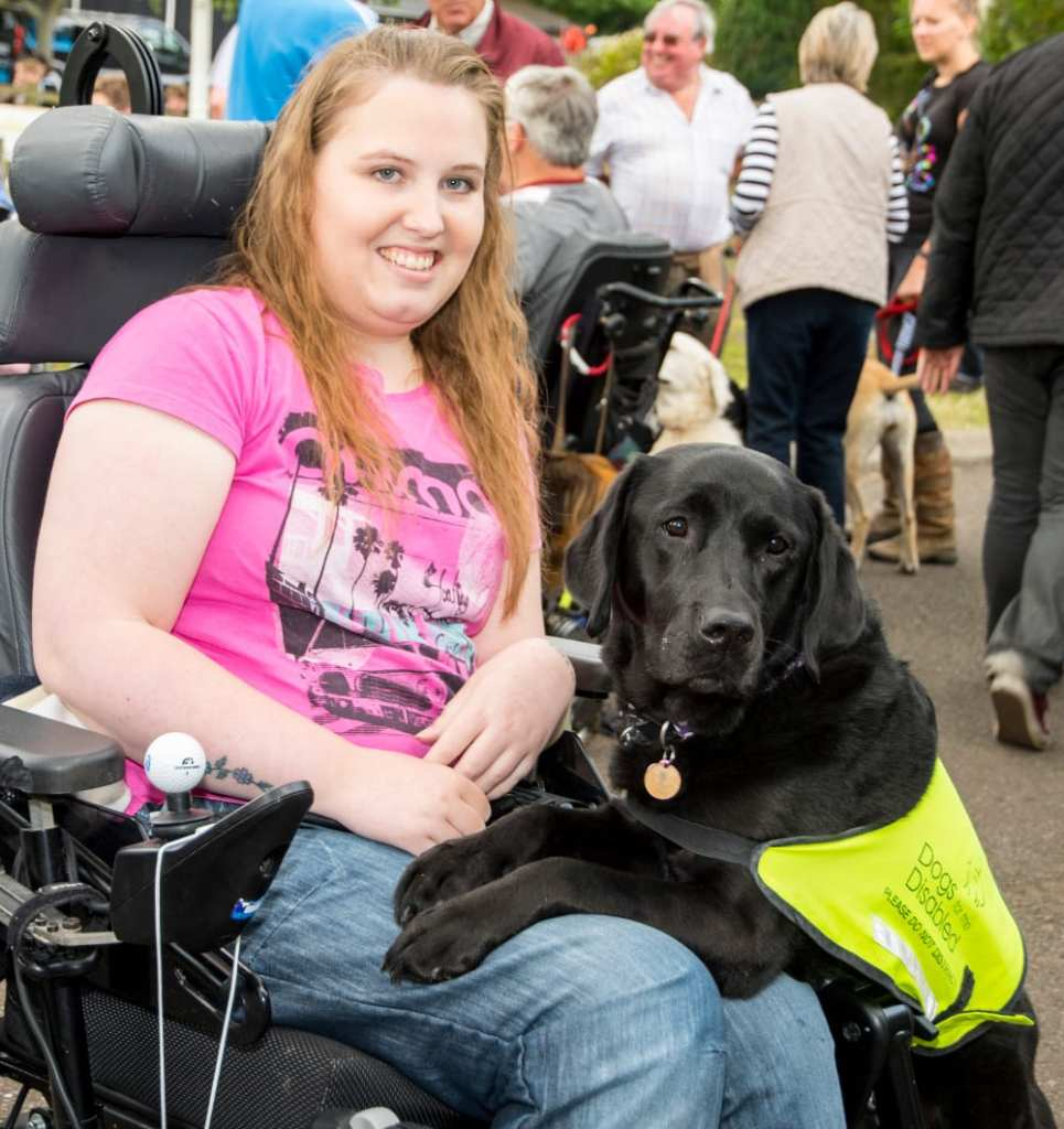 Annie Davies and her black lab Lucy