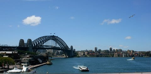 Sydney Harbour Bridge taken by Reginald J. Dunkley