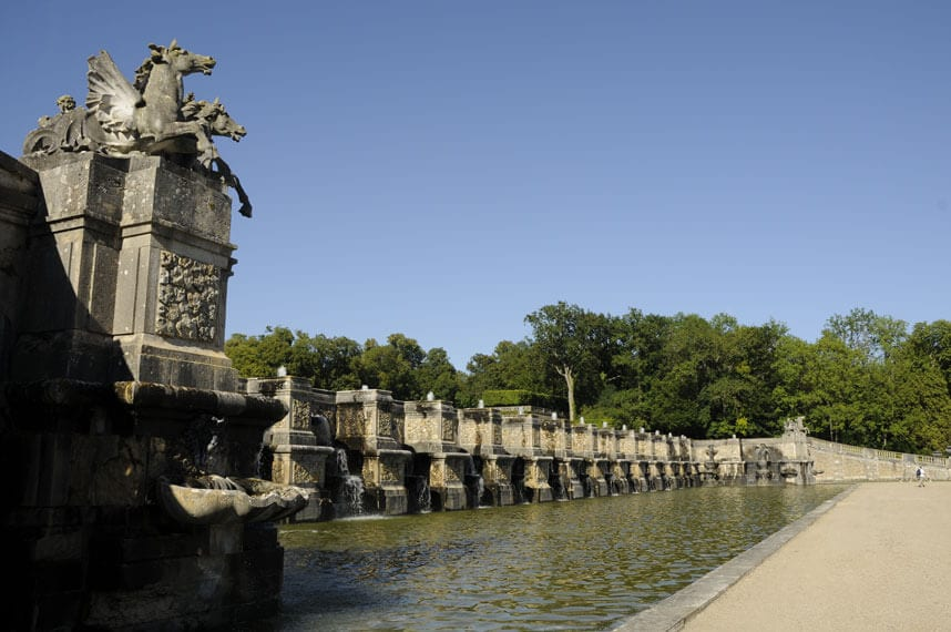 The great fountain at Vaux le Vicomte