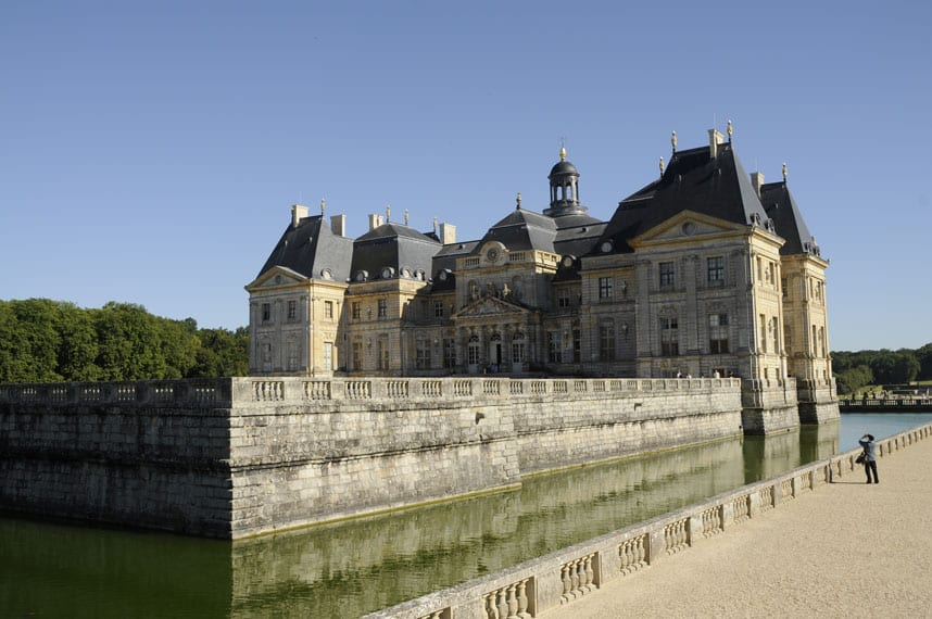 The castle and its moat at Vaux-le-Vicomte