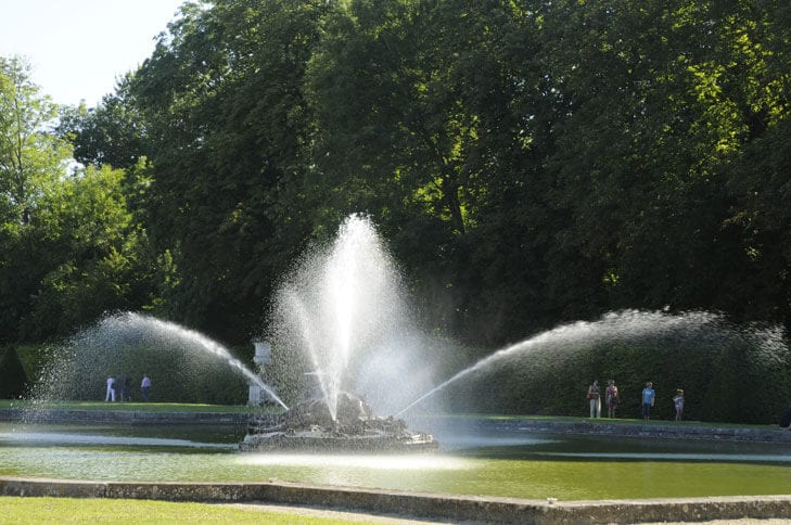 Water game at Vaux le Vicomte