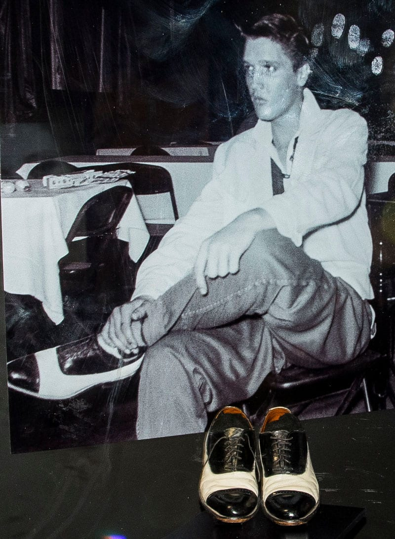 Elvis hand painted these shoes