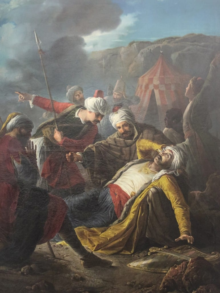 A painting by Cali of the death of Admiral Dragut
