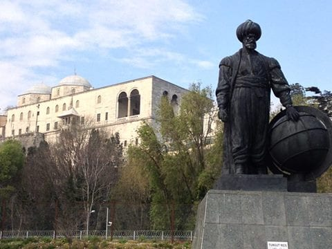 Statue dedicated to Dragut in Istanbul