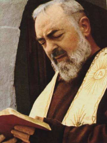 Padre Pio, now a saint of the Catholic Church.