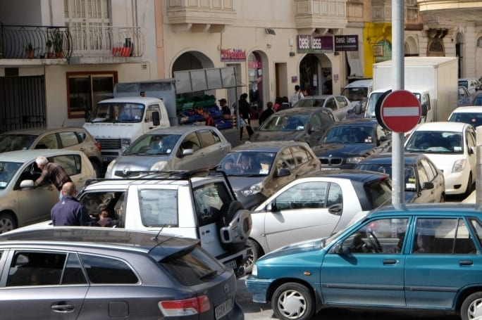 Successive days of traffic chaos. Picture courtesy of Matthew Paris, Times of Malta.