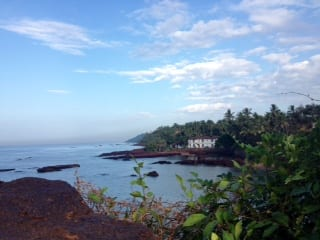 Beautiful Goa- scene from Dona Paula rock.