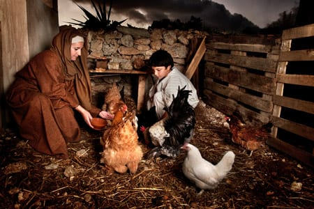 Live Nativity scene in Ghajnsielem