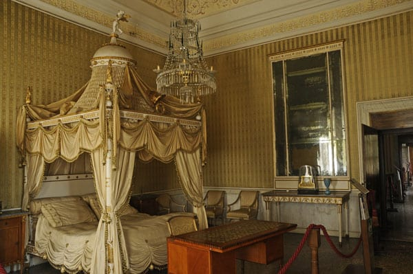Napoleon's bedroom in Villa PIsani
