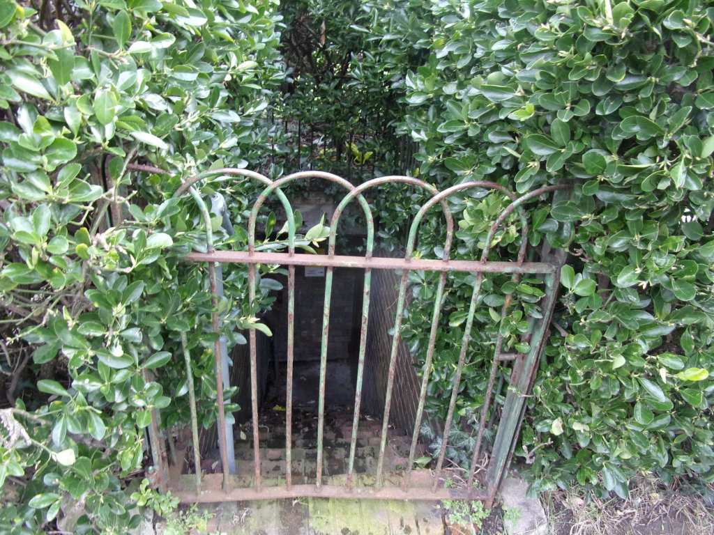 a locked gate bars entry