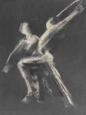 Dance workshop, pastel