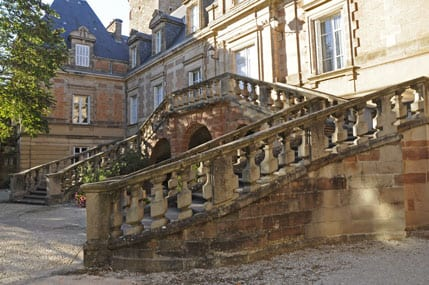 The double stairway at Bishop's Palace