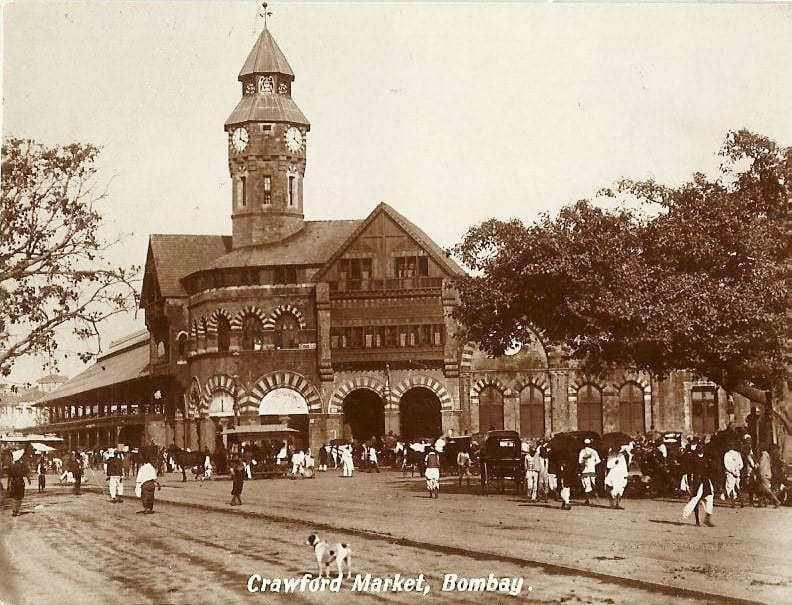 Crawford Market during the early 20th century.