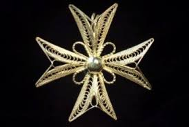 Hand-made filigree Maltese Cross