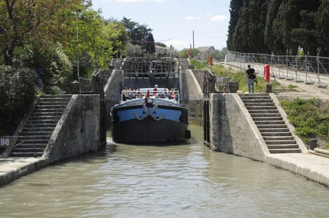 The staircase locks in Fonserannes