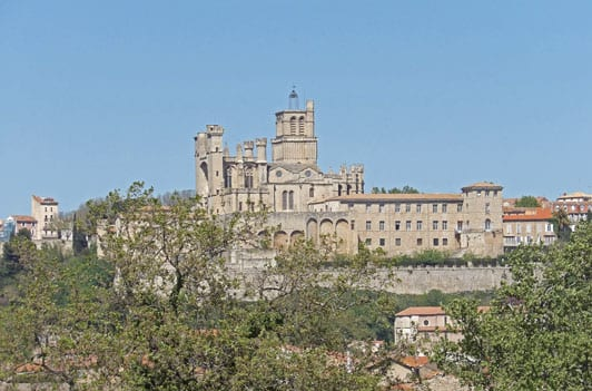 Beziers Cathedral from the Canal
