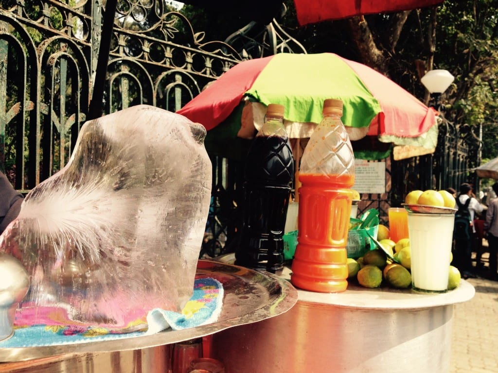 Ice melts at a lemonade stall.