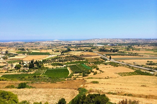 The view from Mdina's bastions.
