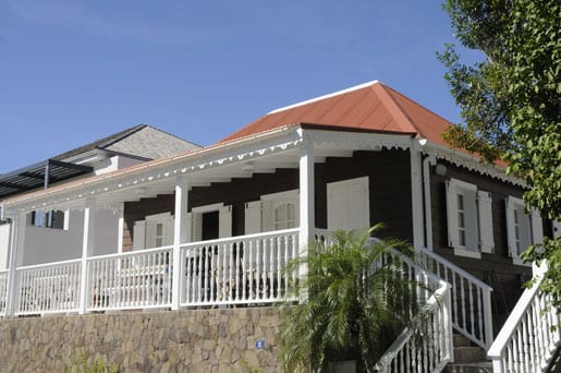 Charming old wooden house in Gustavia