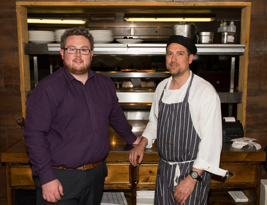 The Globe, Warwick, General Manager Ryan Smith and sous chef Ben Hensher.