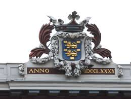 ornate front of building