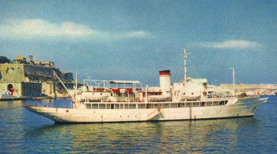 Started off as a luxury yacht and ended up as a passenger ferry after a long history.